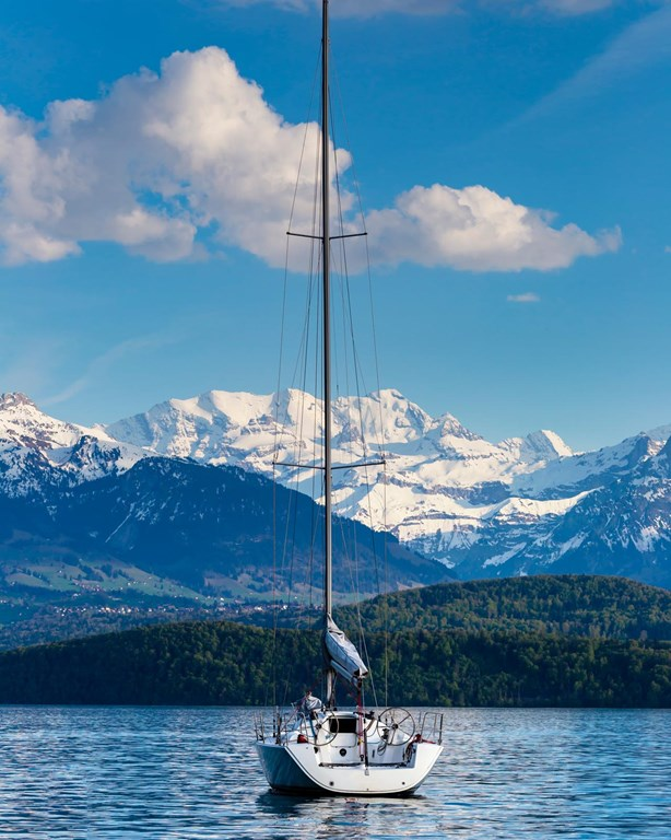 Florens Sailing Boats At Lake Thun Is